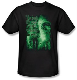 The Lord Of The Rings T-Shirt King Of The Dead Adult Black Tee Shirt