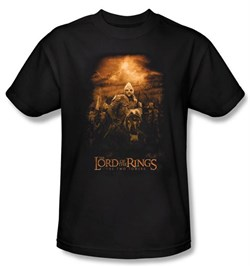 Image of The Lord Of The Rings T-Shirt Riders Of Rohan Adult Black Tee Shirt