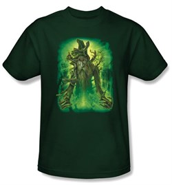 The Lord Of The Rings T-Shirt Treebeard Adult Hunter Green Tee Shirt