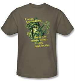 The Lord Of The Rings T-Shirt Treebeard Slow Talker Adult Safari Tee