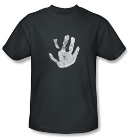 The Lord Of The Rings T-Shirt White Hand Of Saruman Adult Charcoal Tee