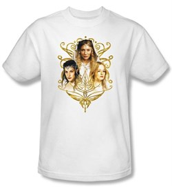 The Lord Of The Rings T-Shirt Women Of Middle Earth Adult White Shirt