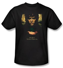 The Lord Of The Rings Kids T-Shirt Frodo One Ring Black Tee Youth