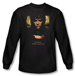 The Lord Of The Rings Long Sleeve T-Shirt Frodo One Ring Black Tee