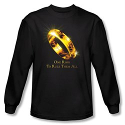 The Lord Of The Rings Long Sleeve T-Shirt One Ring Black Tee