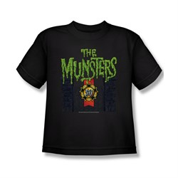 Image of The Munsters Shirt Kids 50 Years Logo Black Youth T-Shirt