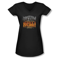 The Pick Of Destiny Shirt Juniors V Neck Metal! Black Tee T-Shirt