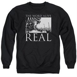Image of The Word Alive Sweatshirt Real Adult Black Sweat Shirt