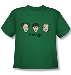 Image of Three Stooges Kids Shirt Stooges Kelly Green Tee T-Shirt