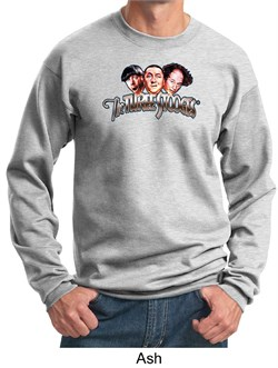 Image of Three Stooges Sweatshirt Funny Faces Adult Sweat Shirt