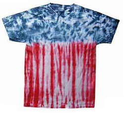 Image of Tie Dye T-shirt USA Flag Patriotic Retro Vintage Adult Tee Shirt