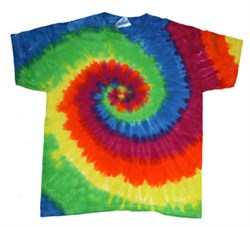 Image of Tie Dye T-shirt Moondance Retro Vintage Rainbow Swirl Adult Tee Shirt