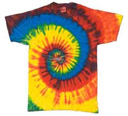 Rainbow | Vintage | T-Shirt | Youth | Shirt | Blue | Dye | Kid | Tie | Tee | Ty