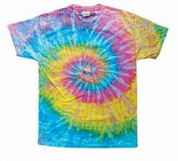 Image of Tie Dye T-shirt Saturn Retro Vintage Groovy Swirl Adult Tee Shirt