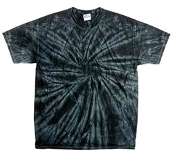 Image of Tie Dye T-shirt Spider Black Retro Vintage Groovy Adult Tee Shirt