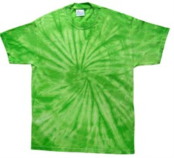 Image of Tie Dye T-shirt Spider Lime Retro Vintage Groovy Green Adult Tee Shirt