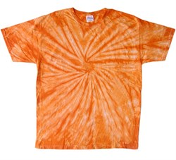 Image of Tie Dye T-shirt Spider Orange Retro Vintage Groovy Adult Tee Shirt