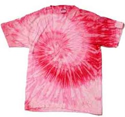 Image of Tie Dye T-shirt Spiral Pink Retro Vintage Groovy Adult Tee Shirt