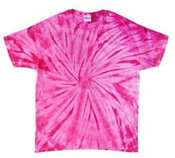 Image of Tie Dye T-shirt Spider Pink Retro Vintage Groovy Adult Tee Shirt
