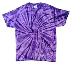 Image of Tie Dye T-shirt Spider Purple Retro Vintage Groovy Adult Tee Shirt