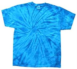 Image of Tie Dye T-shirt Spider Royal Retro Vintage Groovy Adult Tee Shirt