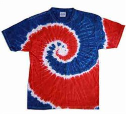 Image of Tie Dye T-shirt Spiral Retro Vintage Groovy Adult Tee Shirt