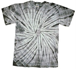 Image of Tie Dye T-shirt Spider Silver Retro Vintage Groovy Adult Tee Shirt