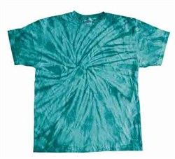 Image of Tie Dye T-shirt Spider Turquoise Retro Vintage Groovy Adult Tee Shirt