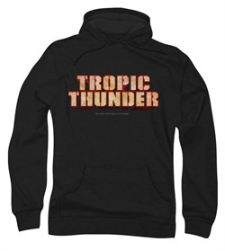 Image of Tropic Thunder Hoodie Sweatshirt Title Black Adult Hoody Sweat Shirt