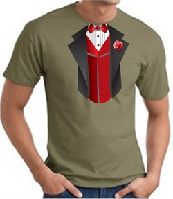 T-Shirt | Green | Army | Vest | Red