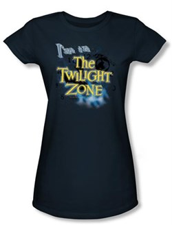 Image of Twilight Zone Juniors T-Shirt - I'm In The Twilight Navy Blue