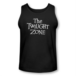 Image of Twilight Zone Shirt Tank Top Logo Black Tanktop