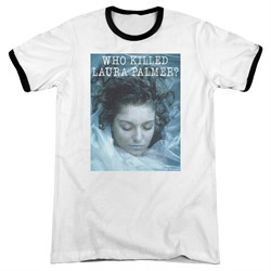 Image of Twin Peaks Who Killed Laura White Ringer Shirt