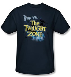 Image of The Twilight Zone T-Shirt - I'm In The Twilight Adult Navy Blue