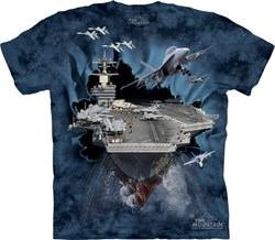 Image of U.S. Navy Aircraft Carrier Shirt Tie Dye Adult T-Shirt Tee
