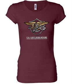 U.S. Navy Seal Shirt Devgru Ladies Longer Length Tee T-Shirt