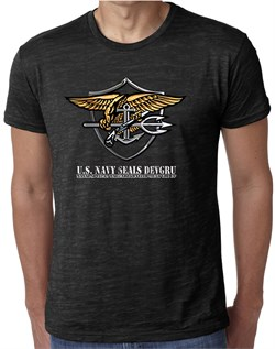 U.S. Navy Seal Shirt Devgru Mens Burnout Tee T-Shirt