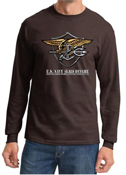 U.S. Navy Seal Shirt Devgru Mens Long Sleeve Tee T-Shirt