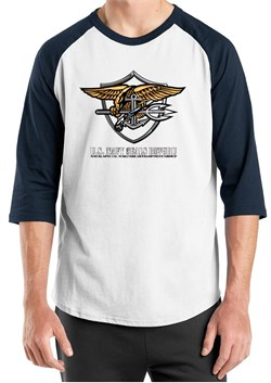 U.S. Navy Seal Shirt Devgru Mens Raglan Tee T-Shirt