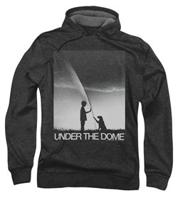 Image of Under The Dome Hoodie Sweatshirt I'm Speilburg Charcoal Adult Hoody