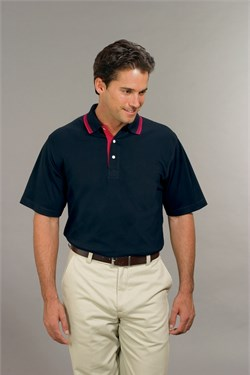 Port Authority Polo Sport Shirt Rapid Dry With Contrast Trim