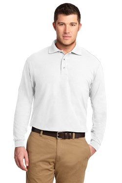 Port Authority Polo Sport Shirt Long Sleeve Silk Touch Polo