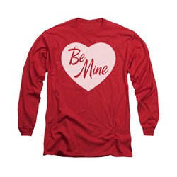 Valentine's Day Shirt Be Mine Long Sleeve Red Tee T-Shirt