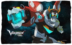 "Image of Voltron ""Defenders"" Microfiber Fleece Blanket - 36"" X 58"""