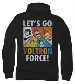 Voltron Hoodie Sweatshirt Force Black Adult Hoody Sweat Shirt