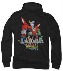 Voltron Hoodie Sweatshirt Lions Black Adult Hoody Sweat Shirt
