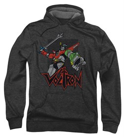 Voltron Hoodie Sweatshirt Roar Charcoal Adult Hoody Sweat Shirt