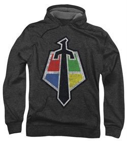 Voltron Hoodie Sweatshirt Sigil Charcoal Adult Hoody Sweat Shirt