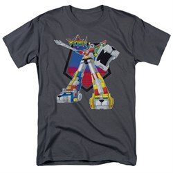 Voltron Shirt Blazing Sword Adult Charcoal Tee T-Shirt