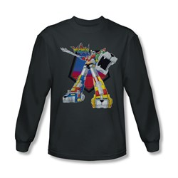 Voltron Shirt Blazing Sword Long Sleeve Charcoal Tee T-Shirt